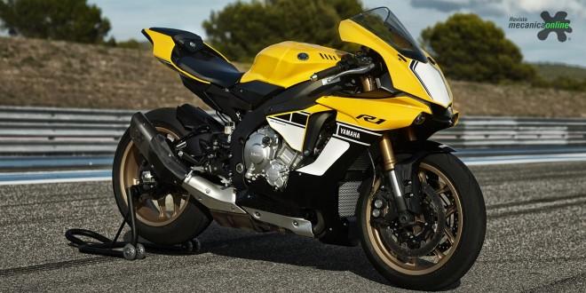 Motocicletas com selo, cores e grafismo comemoram os 60 anos da Yamaha