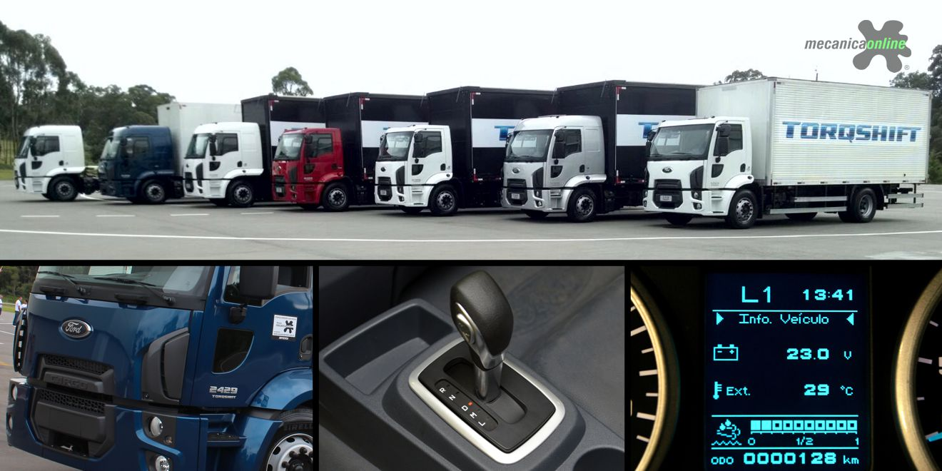 Inédita transmissão automatizada passa a ser oferecida pela Ford Caminhões com a linha Cargo Torqshift
