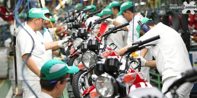 Produção e venda de motocicletas registram queda de 11,5% e 22,5% em relação a setembro