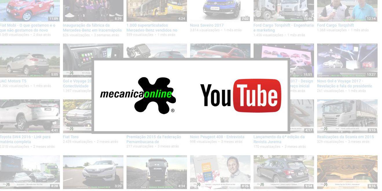Canal de vídeos do Mecânica Online® ultrapassa 11 milhões de visualizações