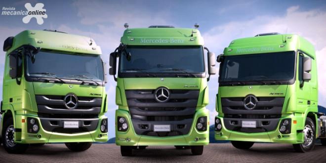 Mercedes-Benz aumenta mais de 80% as vendasde caminhões Actros no mercado brasileiro