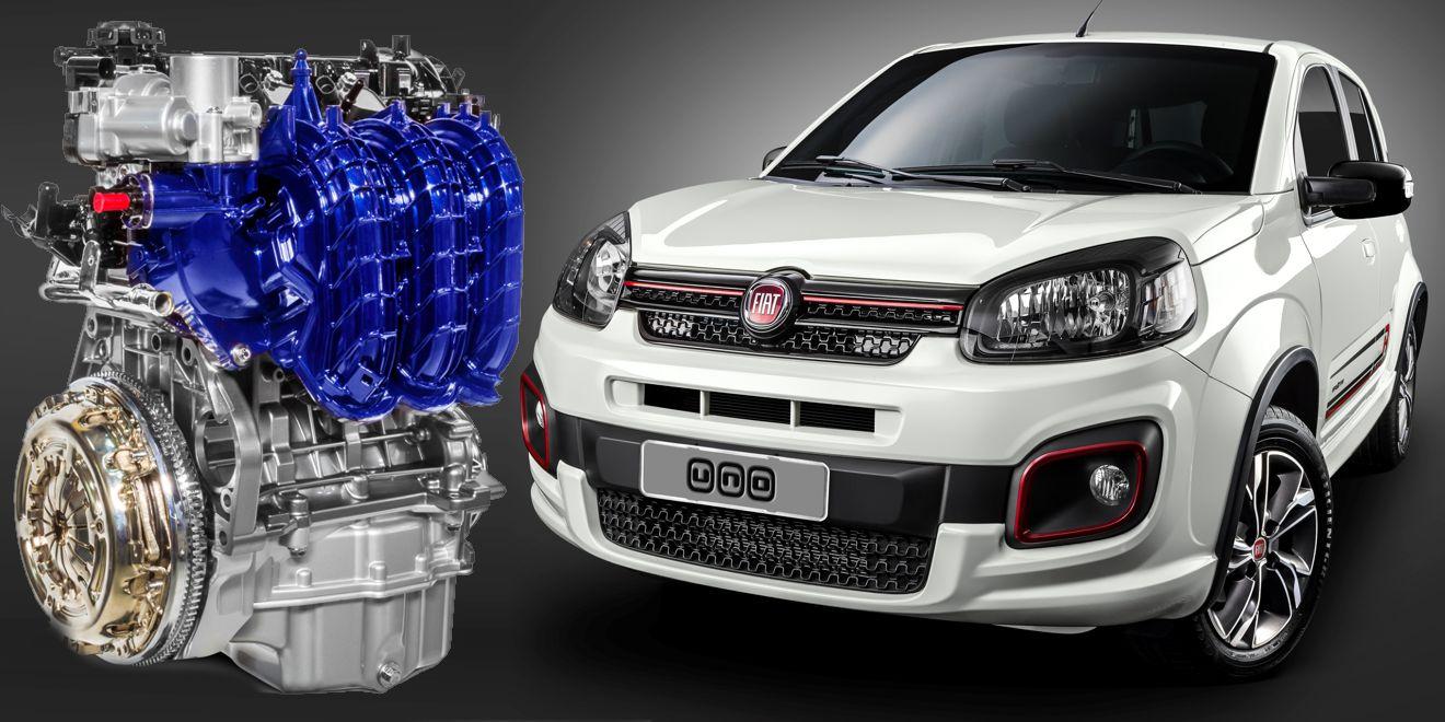 Motorização 1.0 litro três cilindros estreia com Fiat Uno 2017