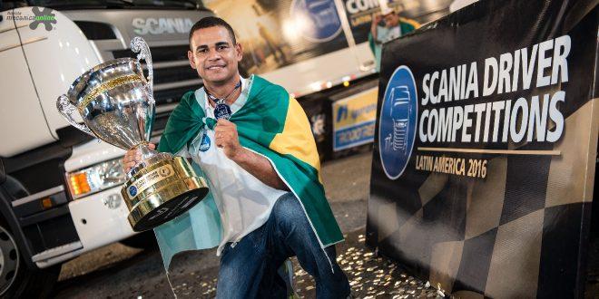 Brasileiro conquista o título e um caminhão 0 km no Scania Driver Competitions