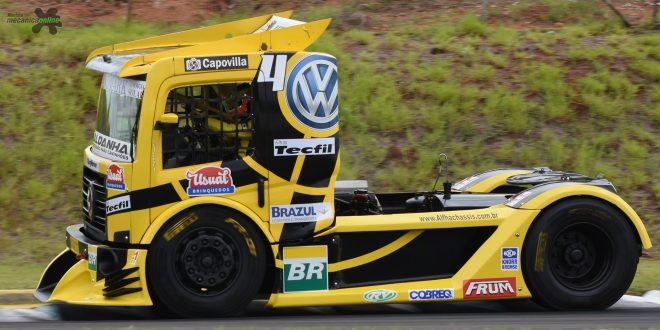 Com a mão no título, Giaffone sai na pole da F Truck em Londrina neste sábado