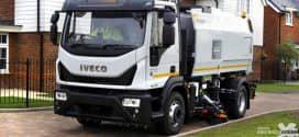 Eurocargo 120EL21 P: caminhão de lixo de médio alcance movido a GNC