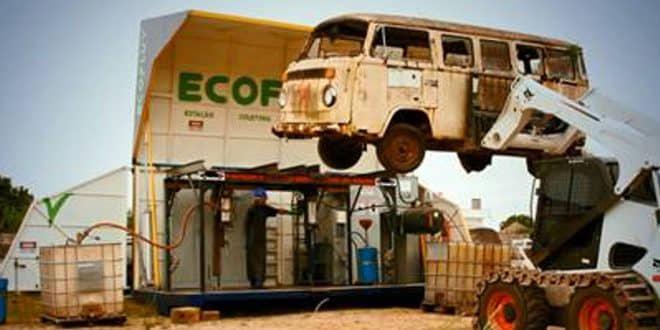 Gerdau promove a descontaminação ambiental por meio da reciclagem veicular
