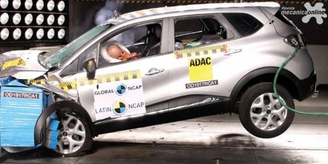 """Renault """"Captura"""" quatro estrelas da segurança para ocupantes adultos"""
