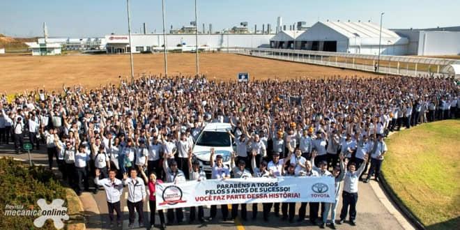 Planta da Toyota na cidade de Sorocaba (SP) celebra cinco anos com crescimento na produção e alto engajamento social