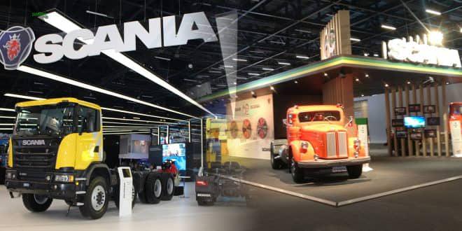 Passado, presente e futuro encontram-se nos estandes da Scania na Fenatran 2017